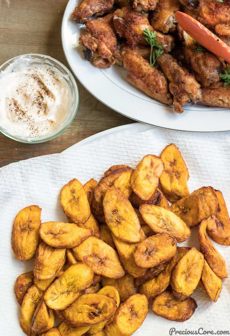 plantains and wings