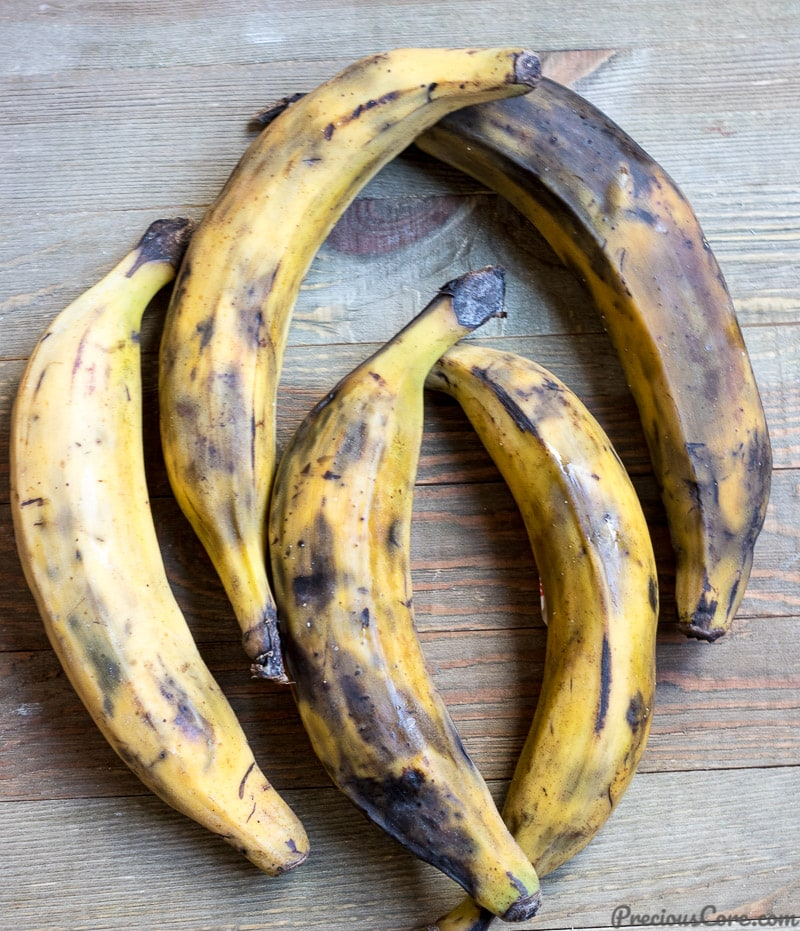 5 yellow ripe plantains