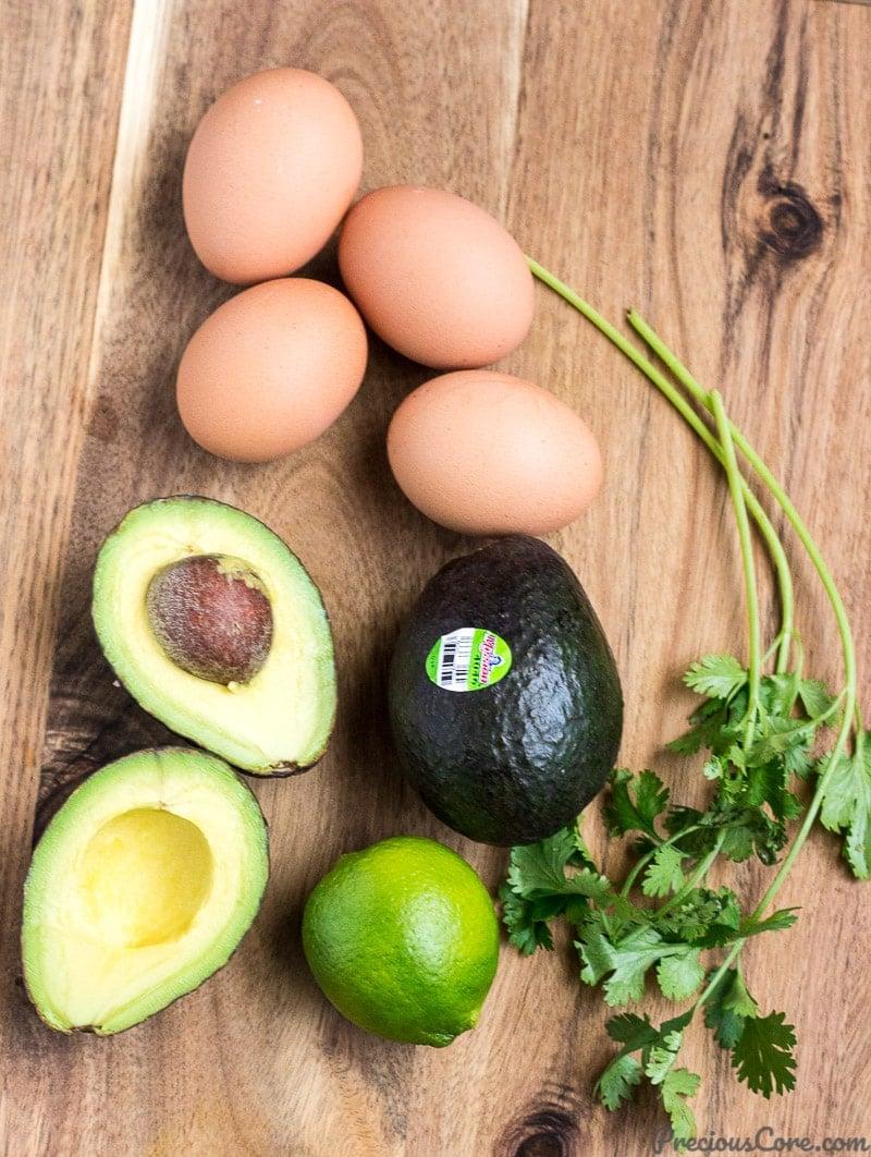 Ingredients for Healthy Avocado Egg Salad