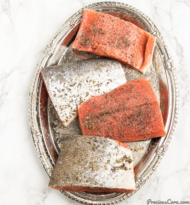 Dry marinade for Grilled Salmon