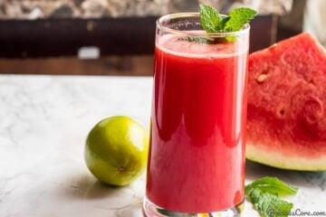 Watermelon Mint Juice - homemade