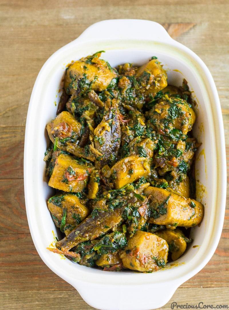 African plantain porridge