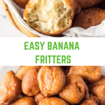 Banana Fritters in a basket