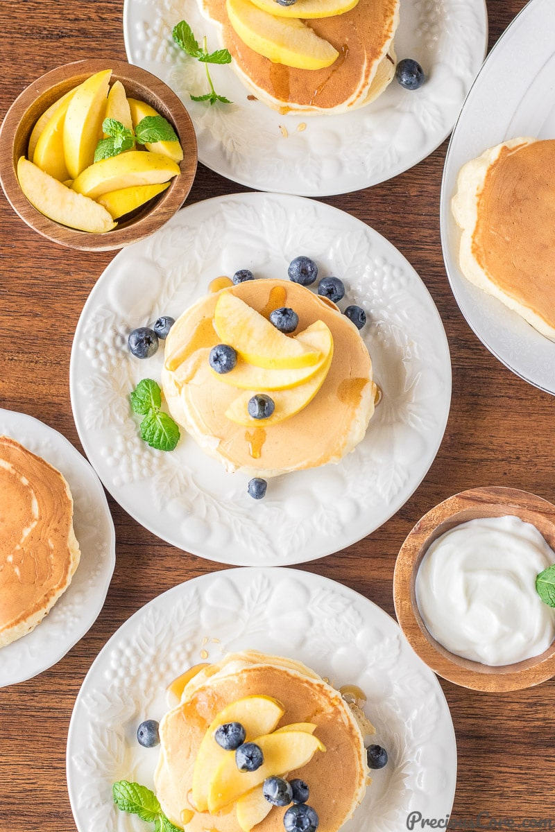 How to make healthier old fashioned pancakes