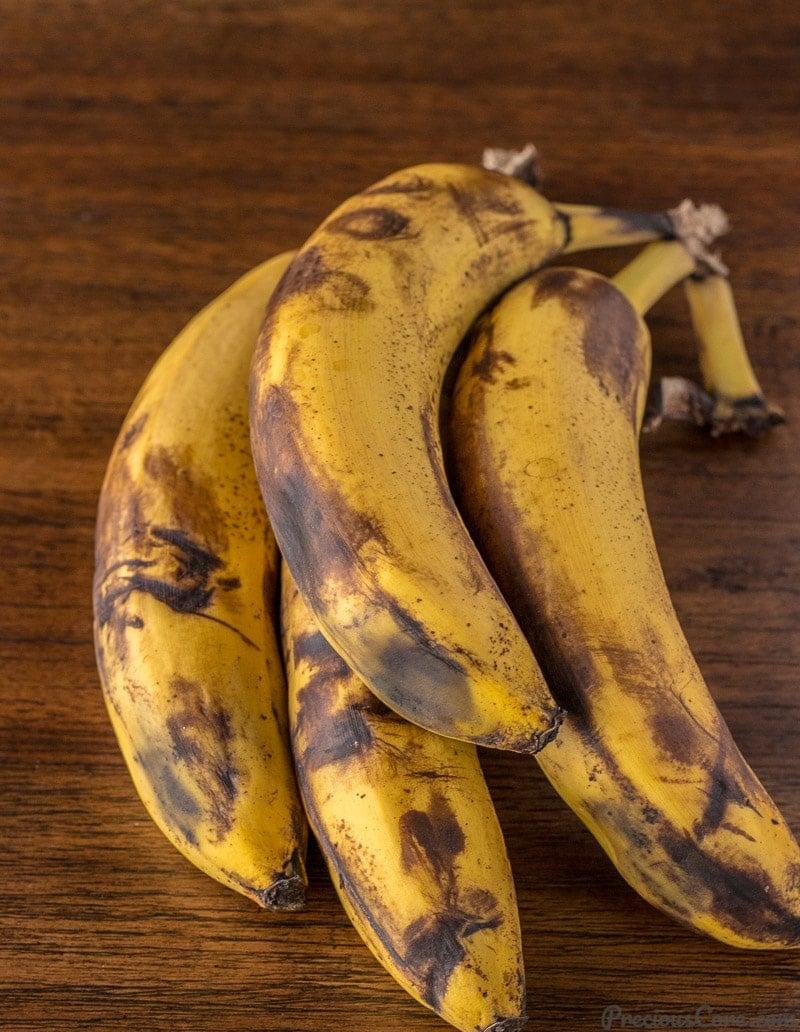 Overripe bananas for banana fritters