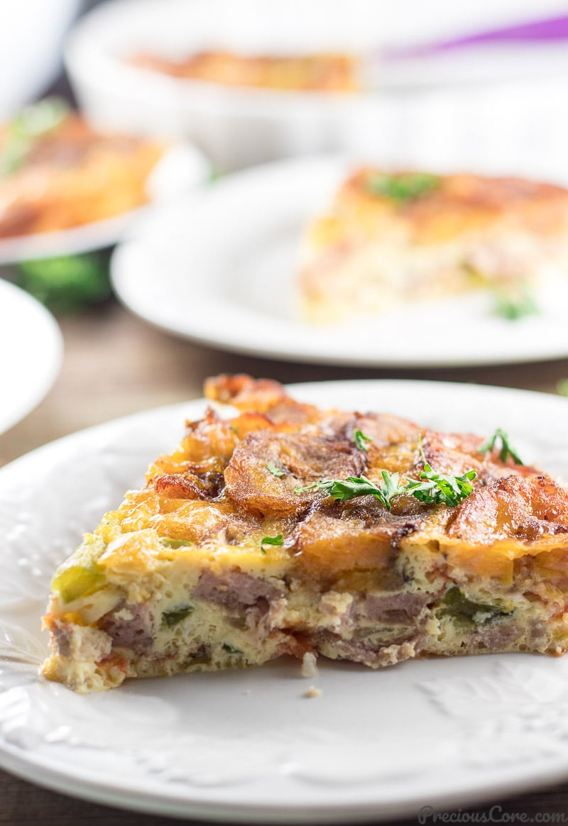 Plantain Frittata breakfast