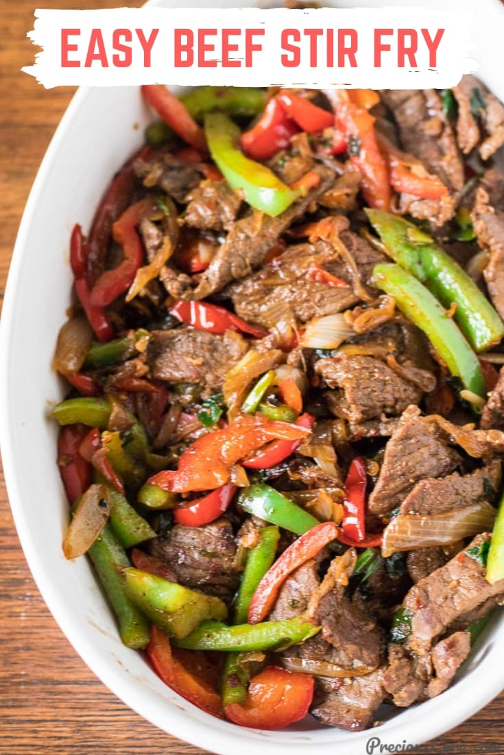 Easy Beef Stir Fry that happens in 30 minutes! I marinate the beef using @foodsaver's vacuum sealing system. This beef stir-fry is so perfect with boiled rice or in a wrap. Get the recipe on Precious Core. #BeefStirFry #SealtoSavor #Ad