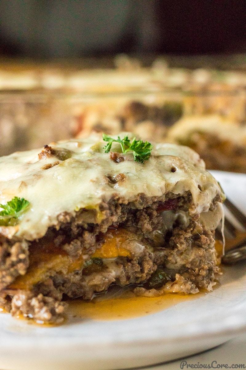 Plantain Lasagna - Pastelon de Platano Maduros