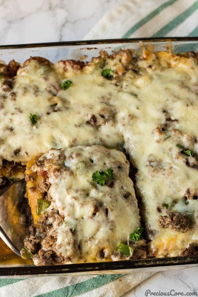 Plantain Lasagna dinner