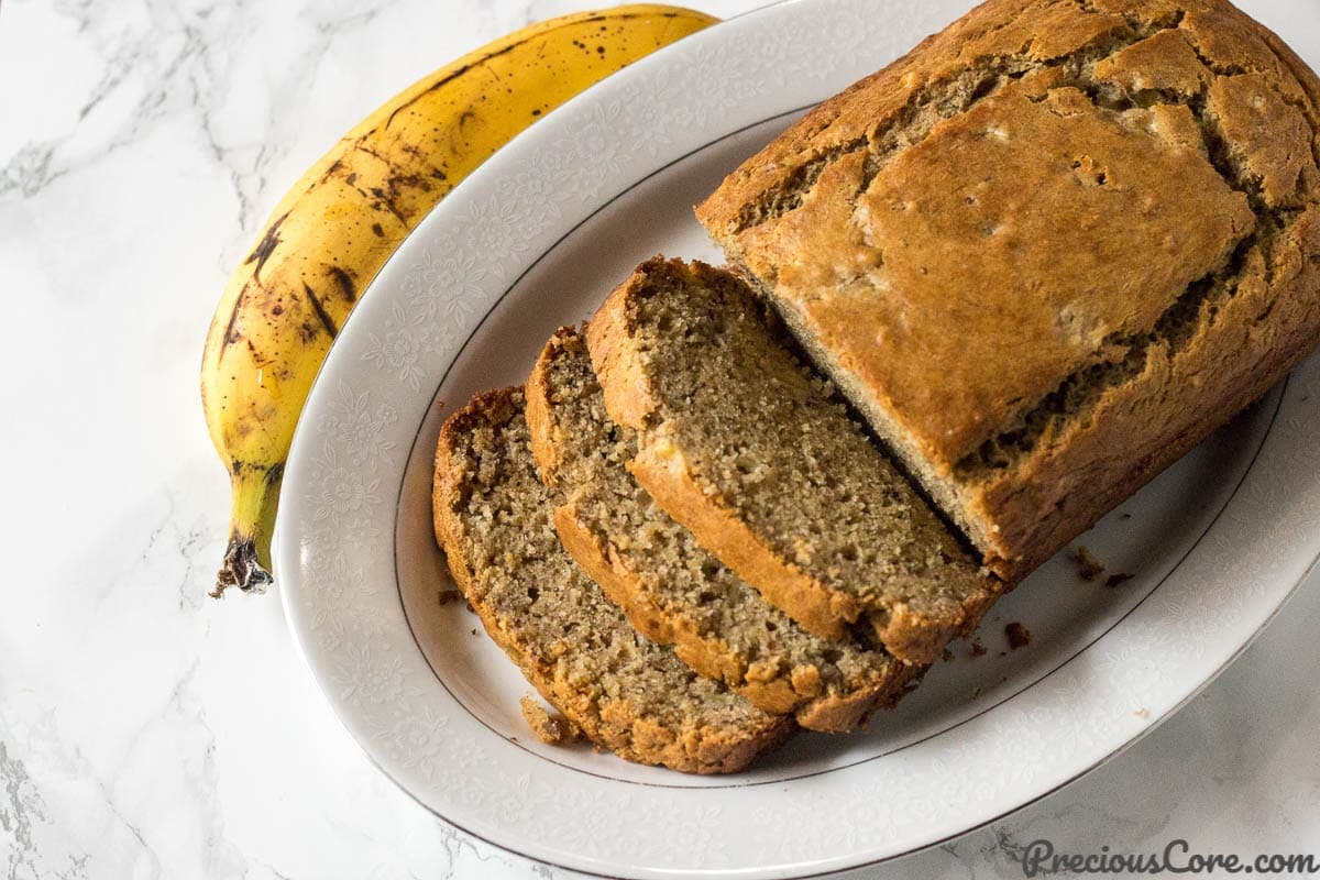 The Most Delicious Banana Bread Easy Moist Banana Bread Recipe Precious Core