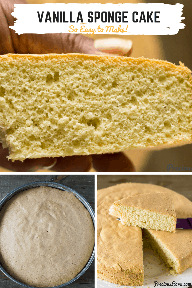 Light Fluffy Moist Sponge Cake Recipe