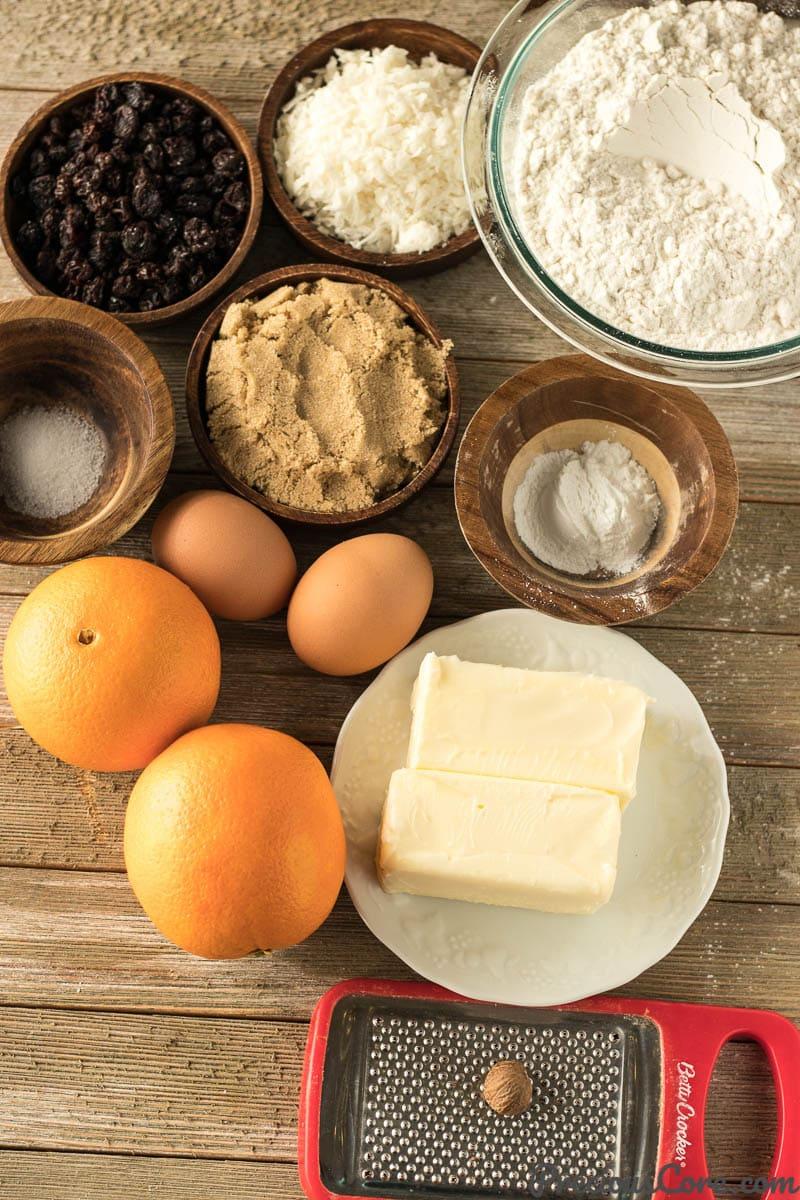 Christmas Fruit Cake Recipe ingredients