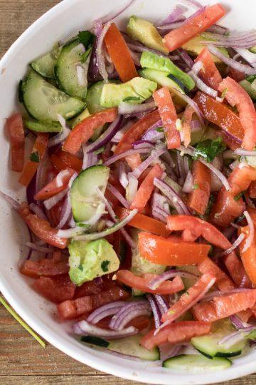 Kachumbari - tomato onion salad