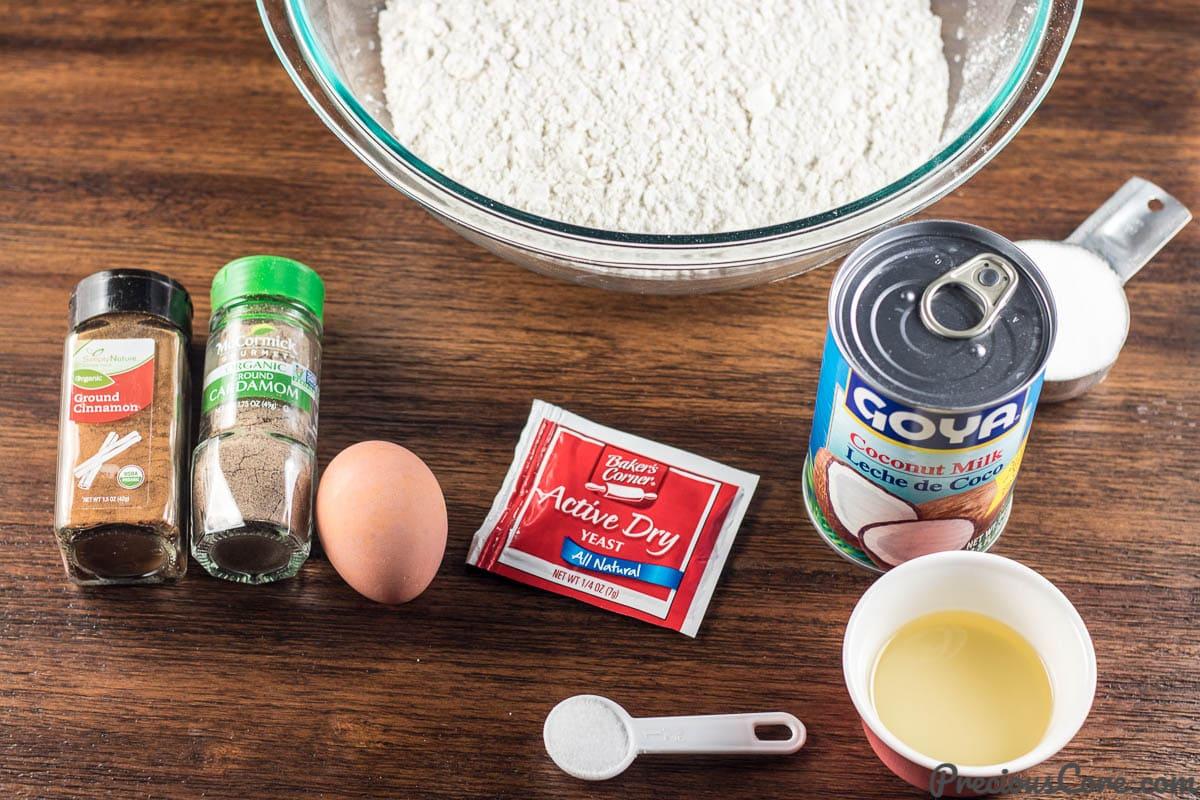 Ingredients for Mandazi
