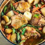 Chicken and Potatoes in pot