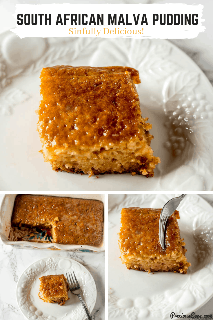 Everyone in my household loved this Malva Pudding! I had to double the recipe and make another batch! #dessert #malvapudding #africanfood #preciouscore