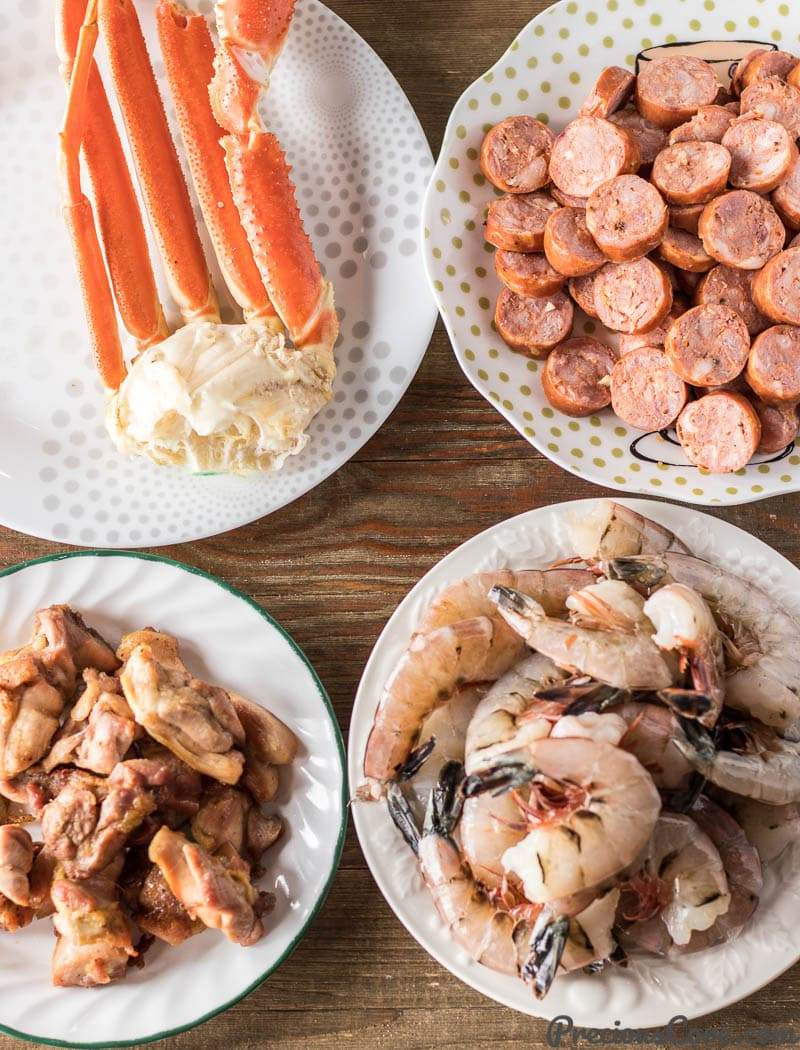 Seafood chicken and sausage for authentic gumbo
