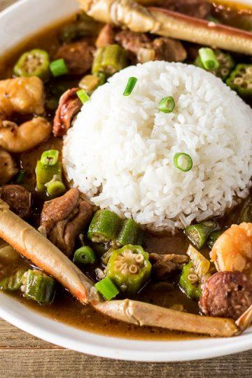 authentic seafood gumbo