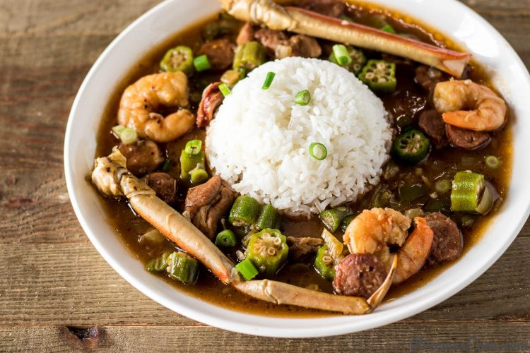 authentic seafood gumbo