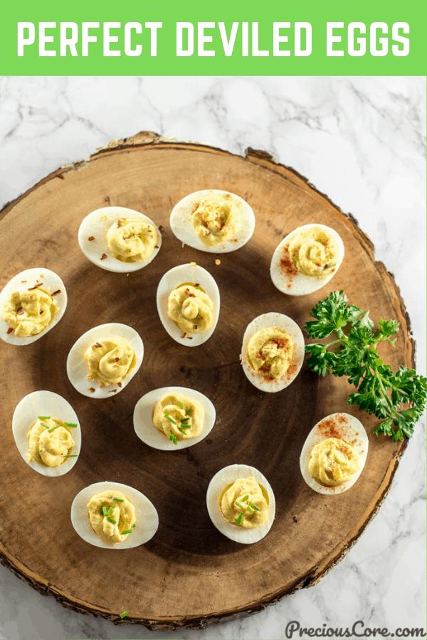 Deviled Eggs on a serving platter