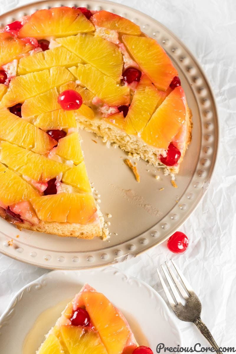Slice of Pineapple Upside Down Cake