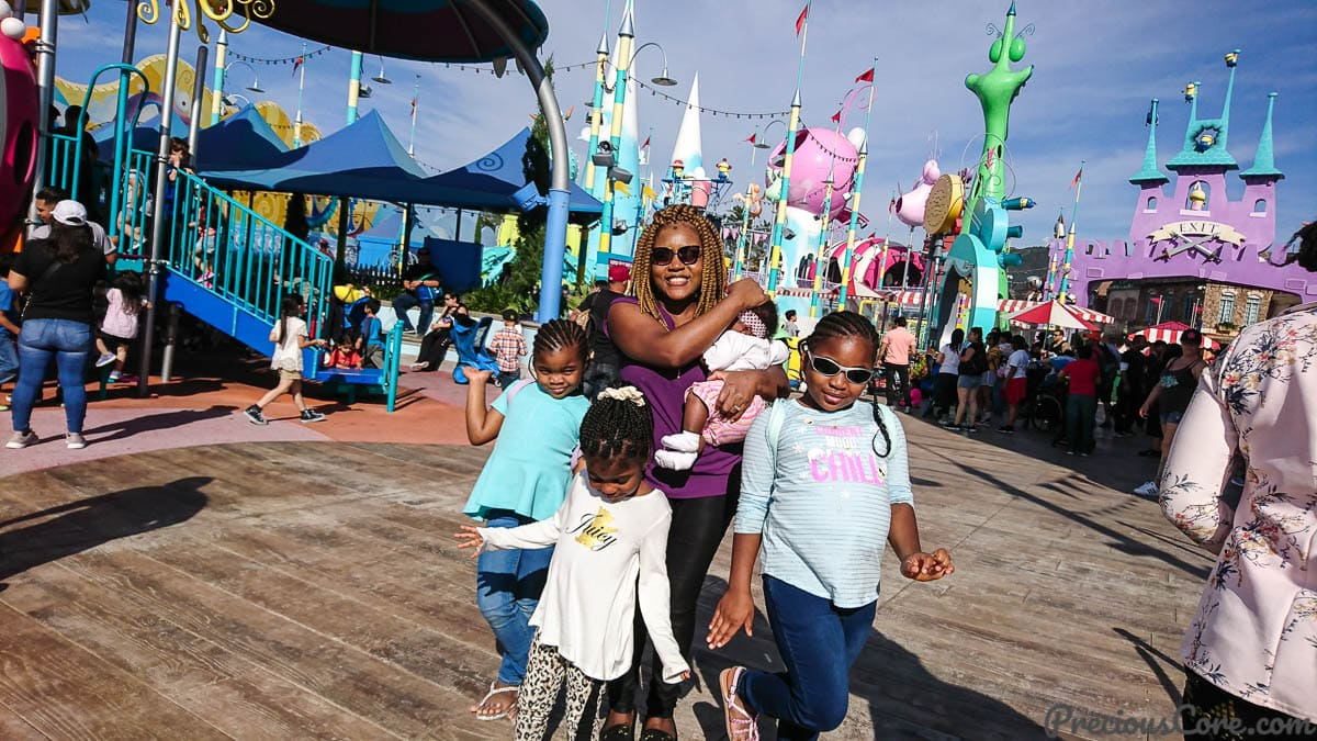 Mother and girls at Super Silly Funland