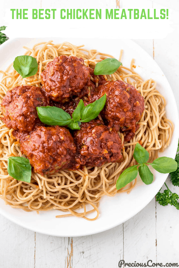 Picture of meatballs on spaghetti
