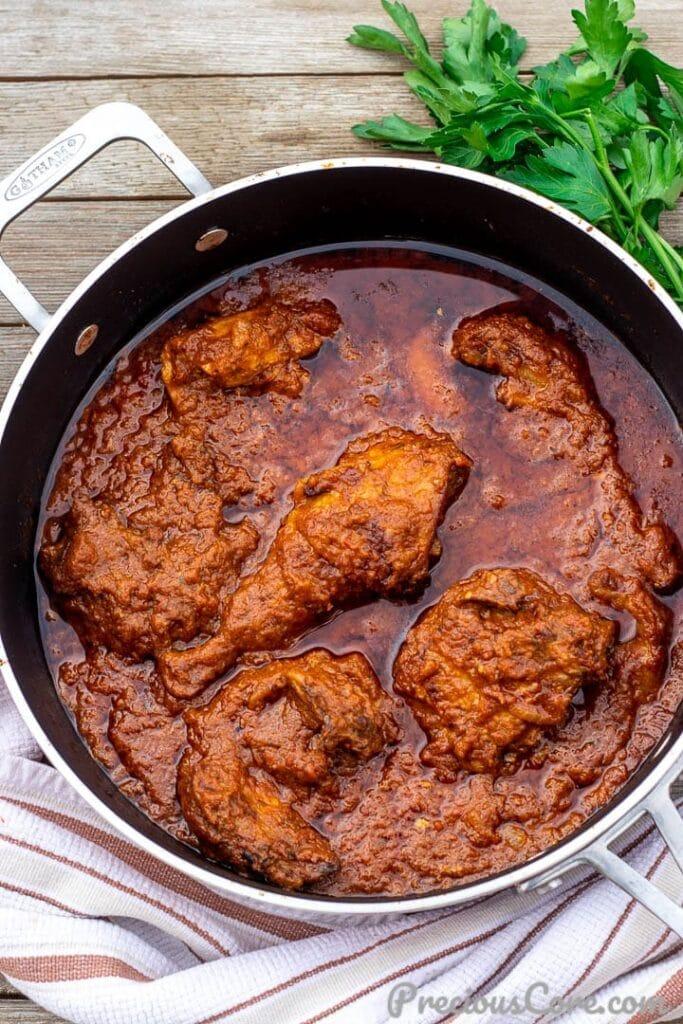 Pan of African Chicken Stew