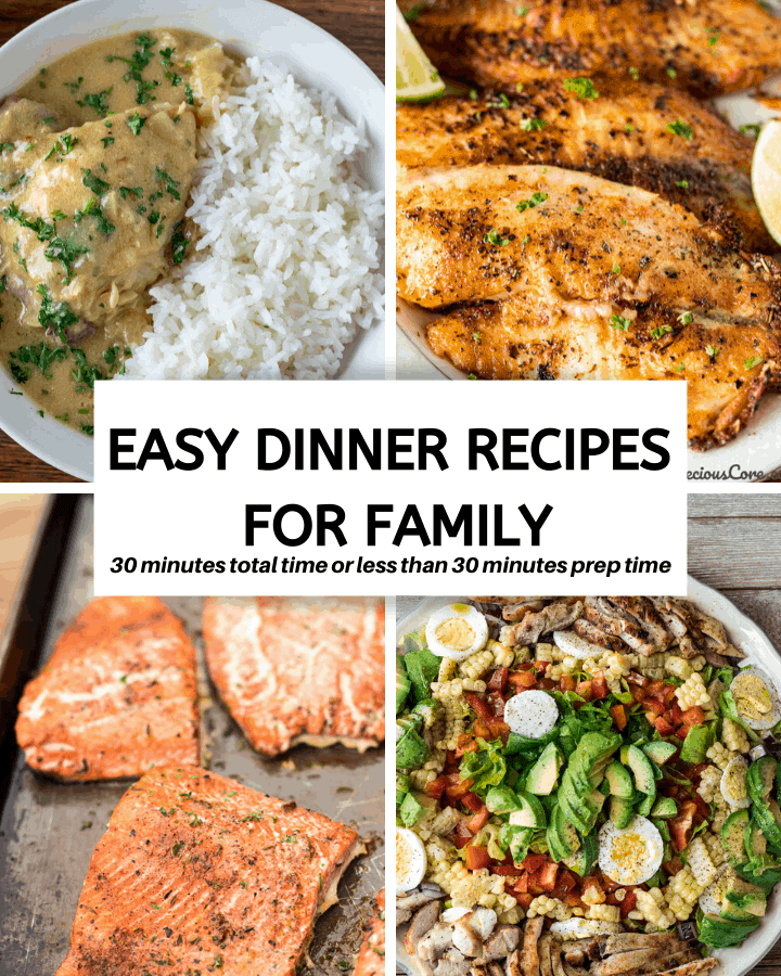 4 pictures of easy dinner recipes