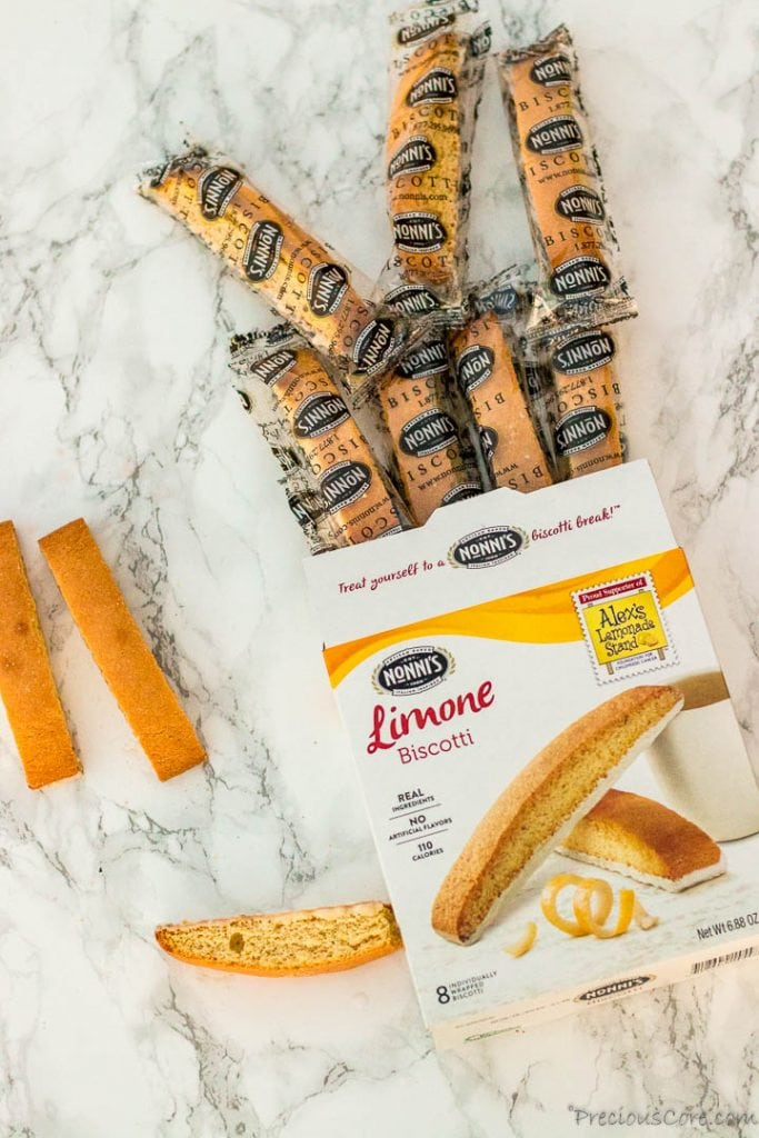 Nonni's Biscotti portion packs