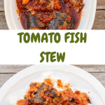 Collage of two photos of fish stew