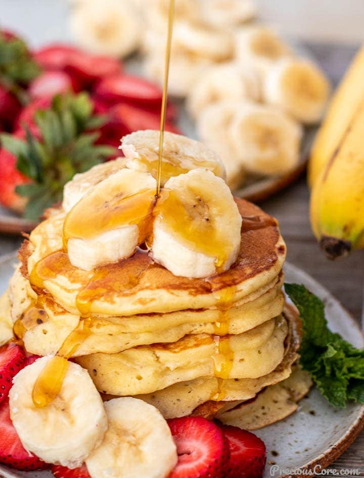 Banana Pancakes The Best Fluffy Banana Pancakes Video