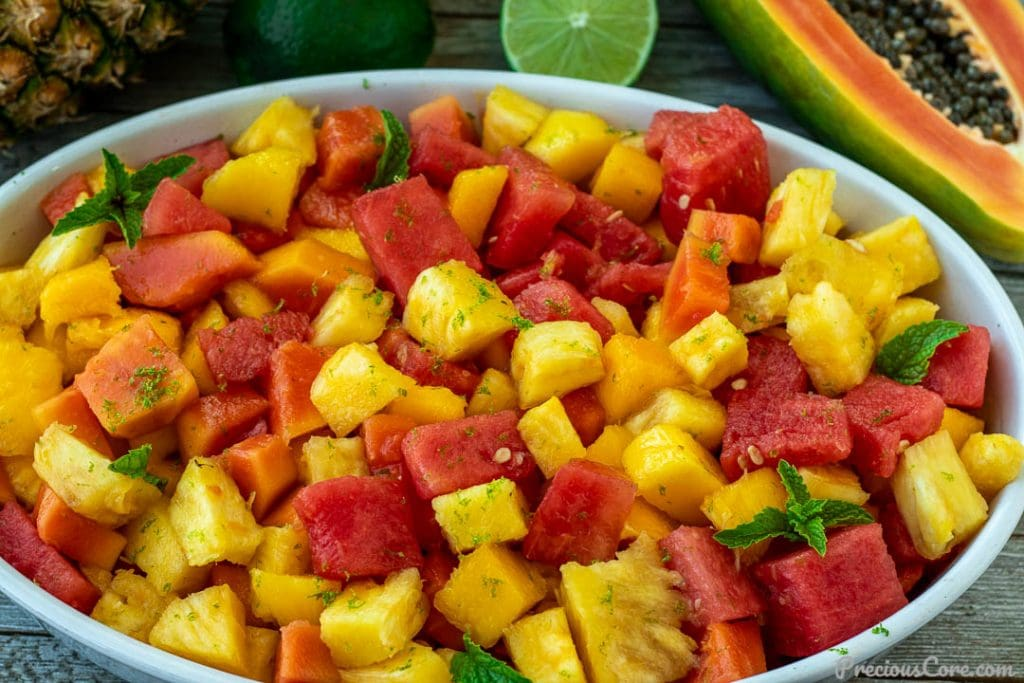 landscape picture of fruit salad