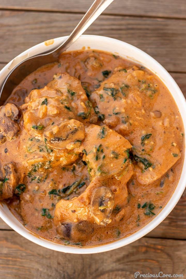 Bowl of African Chicken Peanut Stew