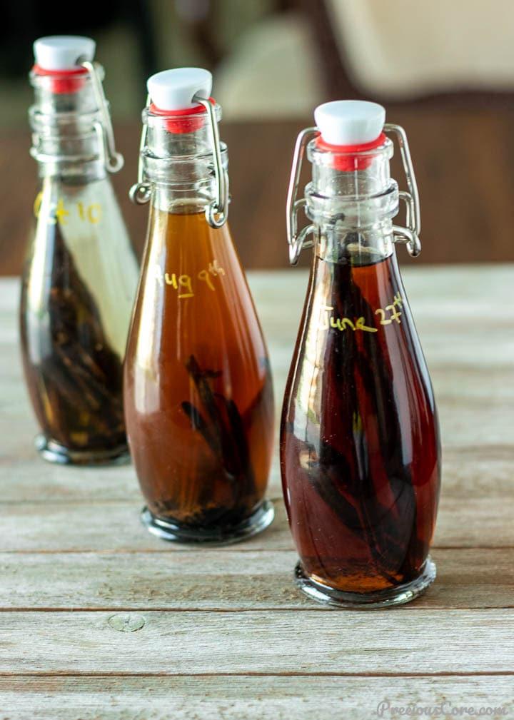 3 bottles of vanilla extract