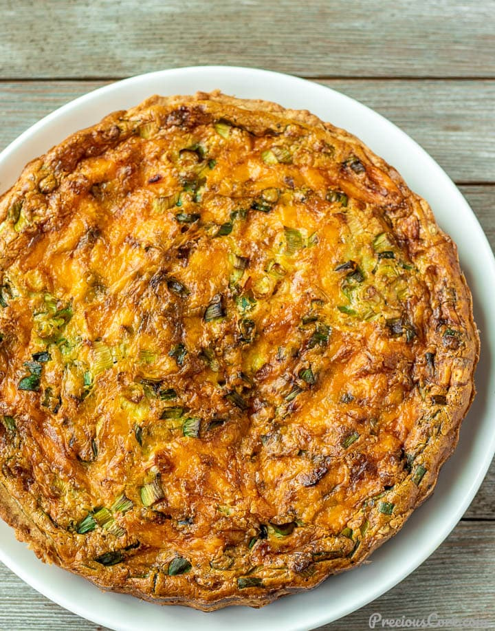 Easy quiche on a plate