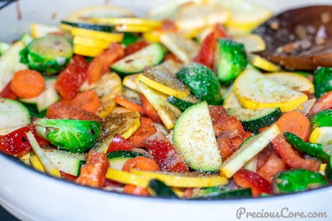 Sauteed Vegetables | Precious Core